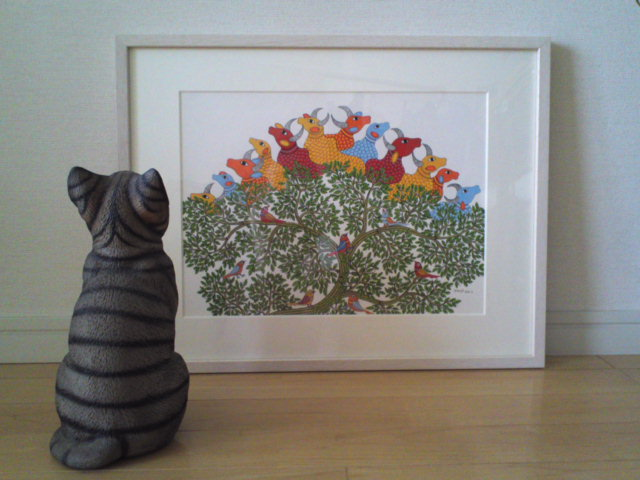 Gond Art in Japanese House – Residence of Ms. A.S.