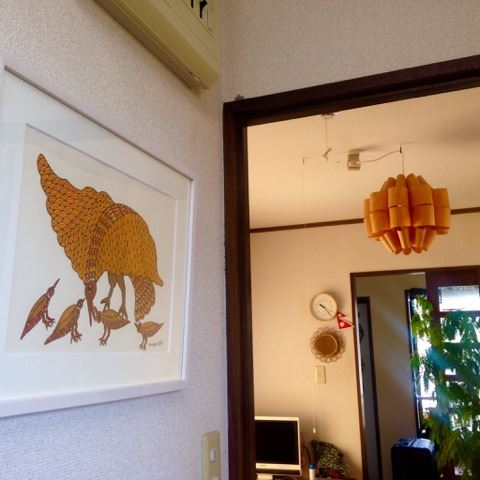 Gond Art in Japanese House – Residence of Ms. A.I.