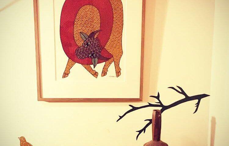 【ゴンド画を飾ったお部屋】H.T.様邸