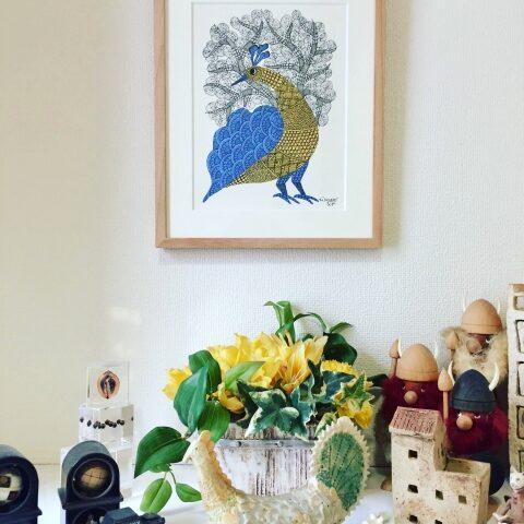 Gond Art in Japanese House – Residence of Ms. H.K.