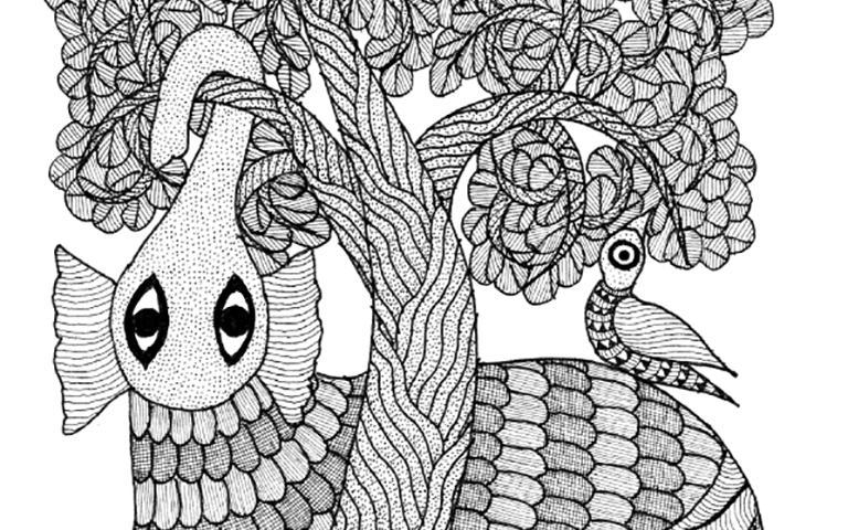 "Coloring – Manoj Durve ""Elephant"""