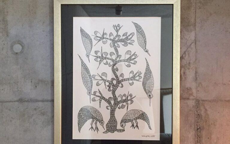 Gond Art in Japanese House – Residence of Mr. M.M.