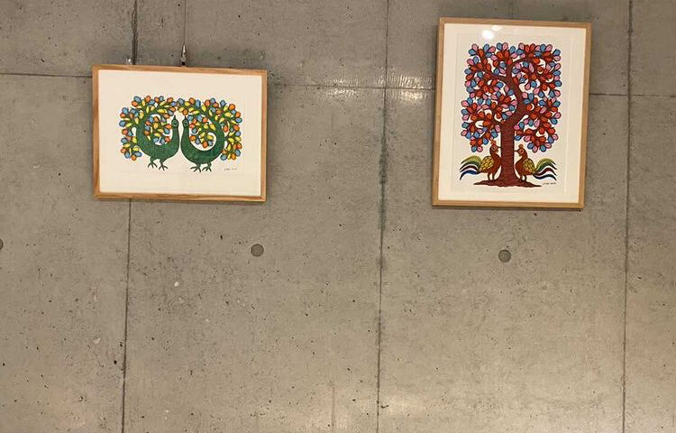 Gond Art in Japanese House – Residence of Ms. N.J.